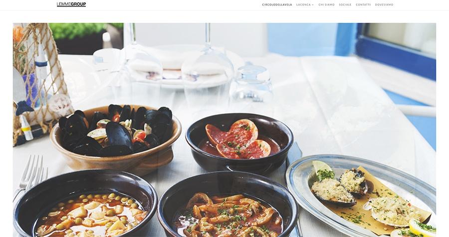 web design sito internet ristorante circolo della vela