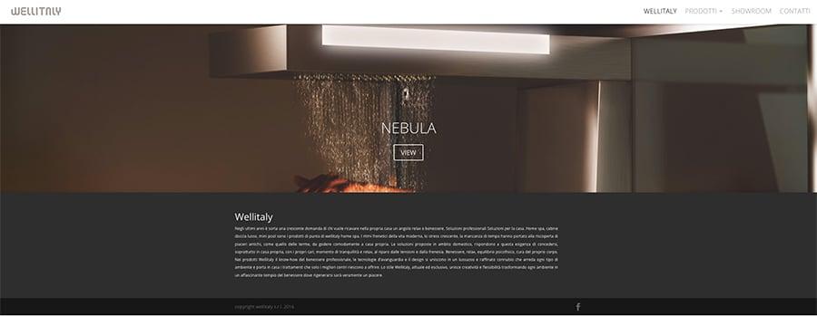 web design sito internet box doccia e cabine spa wellitaly